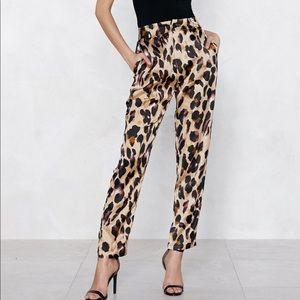 Leopard pants polyester